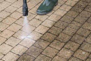 pressure washing block paving